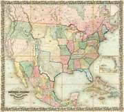 Art-print-colton-museo-map-of-the-united-states-of-america--1848-on-paper-canva