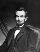 Art-print-unknown-vintage-abraham-lincoln-on-paper-canvas-or-framed