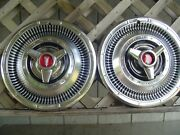 Two Vintage 1966 66 Plymouth Fury Savor Belvedere Satellite Hubcaps Wheel Covers