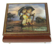 Authentic Rare Antique Mi Hummel Music Box No. 4417 Handcrafted Brahms Lullaby