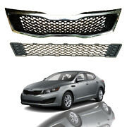 For 2011 2012 2013 Kia Optima Lx Ex Front Bumper Upper And Lower Grille Grill Set