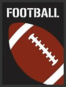 Framed Sports - Football By Designs By Tenisha 16x12 Graphicart Print Poster