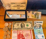 Money Collection 100 Silver Note, Coins, Bills