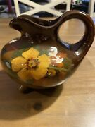 """Weller """"louwelsa"""" Footed Ewer/pitcher Measuring 5 1/4 Inches Tall"""
