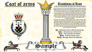Mctaig-toeque Coat Of Arms Heraldry Blazonry Print
