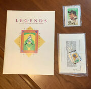 1989 Legends Baseball Scrapbook And Stamp Album Gehrig Clemente Ruth Robinson Nm