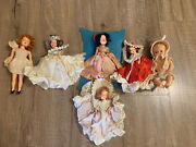 Lot Of 6 Vintage 60's-70's Plastic Dolls Antique Collectibles Baby Toys