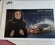 Signed Erica Enders 2006 Pro Stock Dodge Stratus Nhra Photo Card 6 X 10 N 1053