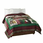 Vintage Inspired Christmas Bed Quilt With Farmhouse Style