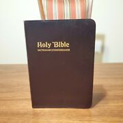 Holy Bible Dictionary/concordance King James Red Letters Edition 220d