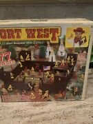 Fort West Playset Tim Mee Processed Plastic Western Cowboys And Indians Box Marx P