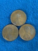 Lot Of 3 Us Lincoln Wheat Cent Penny - 1919, 1942, 1945
