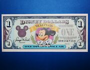 1993 A Series 1 Disney Dollar Mickey Mouse 65th Birthday Rare Back Double Stamp