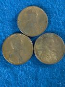 Lot Of 3 Us Lincoln Wheat Cent Penny - 1945, 1946, 1947-d