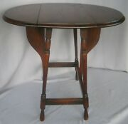 Antique Butterfly Drop Leaf Table Original Finish 22 3/4h Ca Early 1900and039s