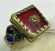 1800s Scarce Antique Nomads Tribal Wedding Ring 10.5 Sz Central Asia 50799