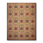8and039 X 11and039asmara Hand Woven Wool French Needlepoint Oriental Area Rug 8x11 Gold