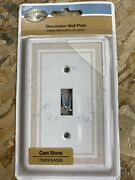 Hampton Toggle Switch Plates Lighting Plates 1 Toggle Wall Plate Beige 4 Pack