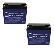 Mighty Max 12v 22ah Gel Battery For Golden Tech. Literider Gp162 Scooter - 2pack