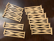 Rare Vintage Marx Roy Rogers Double R Bar Ranch Cattle 11 Piece Fence Lot