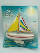 Vintage 1996 Bosun Boats By Reeves 7 Sailing Yacht Sail Boat Model Toy Antique