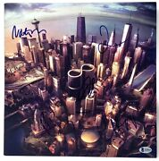 Foo Fighters Band Dave Grohl +4 Signed Sonic Highways Album Lp Beckett Bas