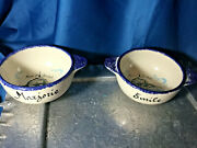 Choice Fait Main French Faience Eared Child Bowl Mont St Michel Names