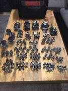 Warhammer 40k Job Lot Space Marine Army Ironhands+large Carry Case+2x Bits Box