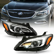 [pair] Afs Adaptive Led Drl Projector Headlight Lamp Fit 2017-19 Buick Lacrosse