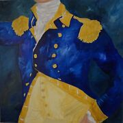 Modern Portraiture Acrylic Painting On Canvas Signed M.ford 36andrdquox36andrdquox1.5andrdquo