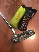 """Scotty Cameron Carbon Oil Can Art Of Putting Sante Fe Custom Shop W 2 Covers 35"""""""