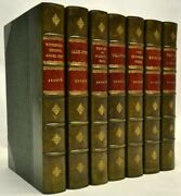 Bronte Sisters Charlotte Emily Anne Green Leather 7 Vol Complete 1902-1909