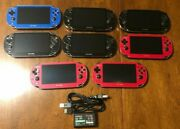 Cosmic Red Black Blue Silver Sony Playstation Ps Vita 1000 Pch-1000 Bundle Oled