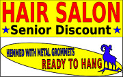 Very Large Hair Salon Senior Discount Several Sizes Yellow Made In America Usa