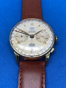 Angelus Chronodato Vintage Classic Triple Date Chronograph Watch Pre Ownedandnbsp