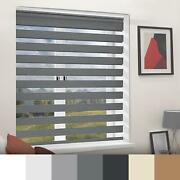 Day And Night Roller Blinds Zebra Black White Grey Brown Multiple Sizes 160cm Drop