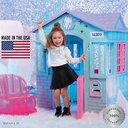 Deluxe Winter Playhouse Outdoor Indoor Large Girls House Cottage Castle Chair Us