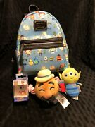 Disney Loungefly Toy Story 4 Chibi Characters Backpack Bag Lot