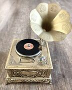 Swank Tabletop Phonograph Music Box And Table Lighter - Vintage Working- Japan