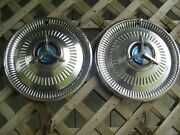 Two 1964 64 Ford Fairlane 500 Thunderbolt Hubcaps Wheel Covers Center Cap Fomoco