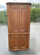 Early American Country Pine Corner Cupboard New England Estate C1830 Honey Color
