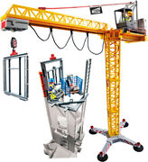 Playmobil - Construction Rc Crane With Building Section [new Toy] Rc / Remote