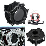 Air Cleaner Intake Filter Black For Harley Touring Road King Flhr Dyna Softtail