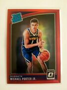 2018-19 Panini Optic Red Prizm Michael Porter Jr. Rc 1/99 1/1 First One