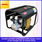 4500psi Double Cylinder Pcp High Pressure Air Compressor With Double Filter Tank