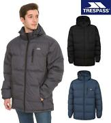 Trespass Mens Clip Padded Insulated Jacket Casual Zip Off Hooded Coat