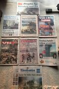 9/11 Attacks- Over 24 Items In This Rare Lot- 8 Foreign Newspapers From Europe