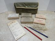 Ww2 Us Office Of Civil Defense Medical First Aid Kit In Belt Pouch Very Brittle