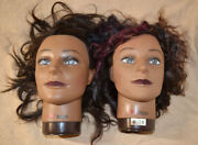Lot Of 2 Chi Megan Mannequin Heads New Stand Included Pre-owned Lightly Used