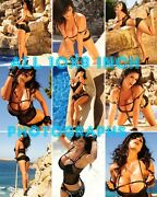 Denise Milani - All 10x8 Inch Photograph's M17 In Tiny Black Hotpants And Heels